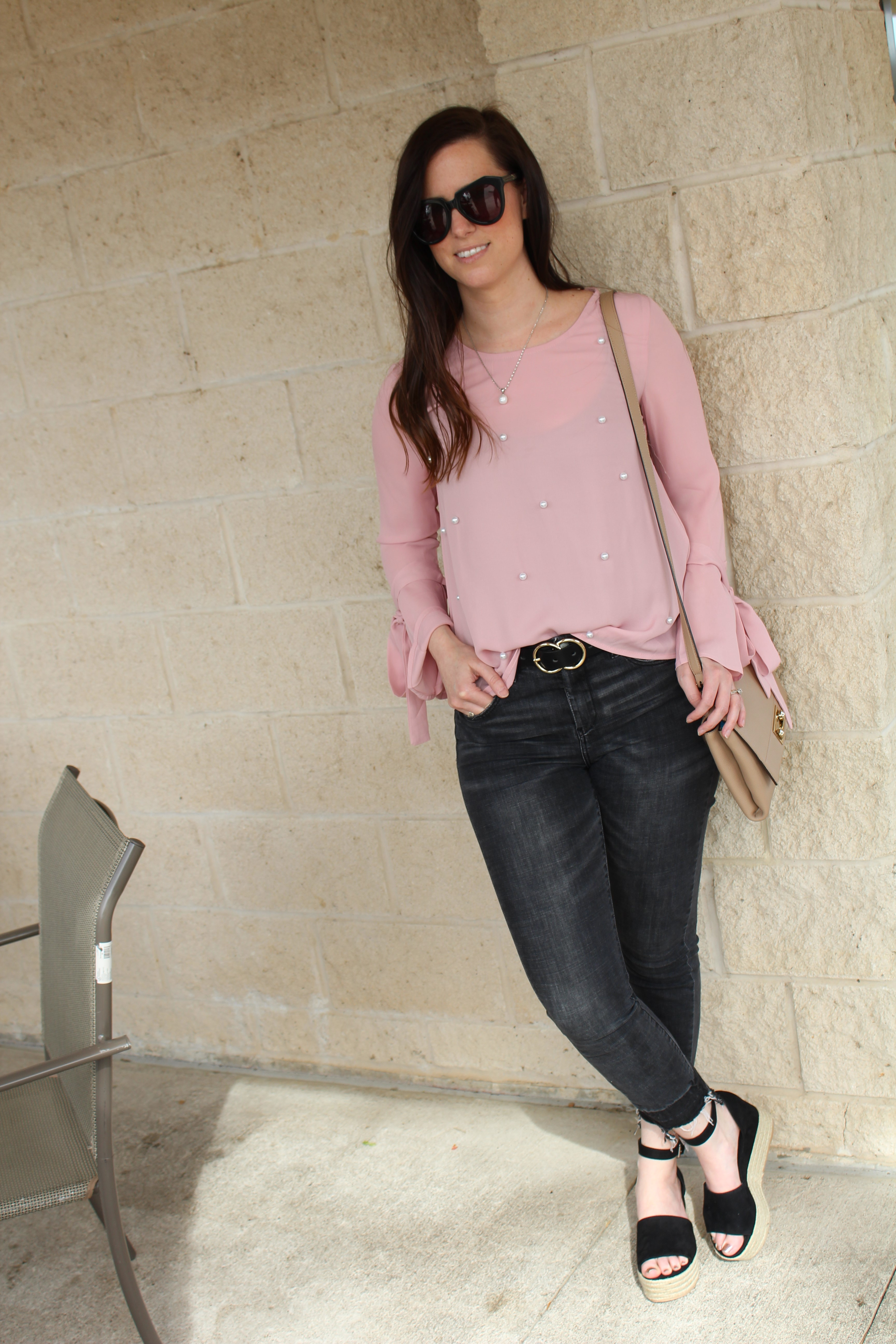 a2f421a6150 Pearl Embellished Blouse - Beautifully Elegant